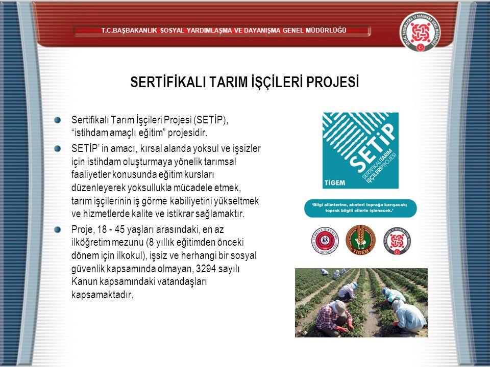 """SERTİFİKALI TARIM İŞÇİLERİ PROJESİ Sertifikalı Tarım İşçileri Projesi (SETİP), """"istihdam amaçlı eğitim"""" projesidir. SETİP' in amacı, kırsal alanda yok"""