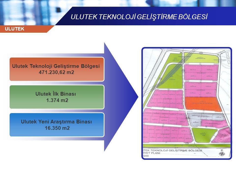 ULUTEK ULUTEK TEKNOLOJİ GELİŞTİRME BÖLGESİ Ulutek Teknoloji Geliştirme Bölgesi 471.230,62 m2 Ulutek İlk Binası 1.374 m2 Ulutek Yeni Araştırma Binası 1