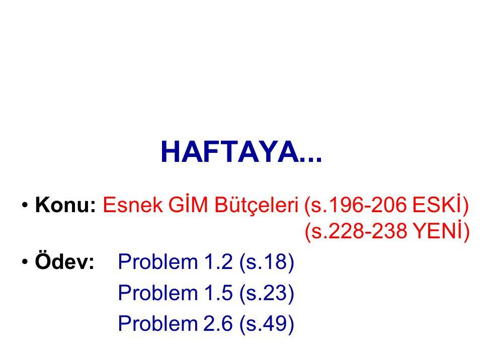 HAFTAYA...