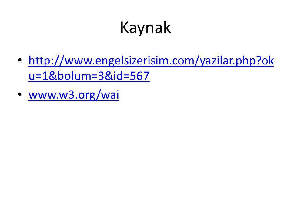 Web Erişilebilirliği Nedir.
