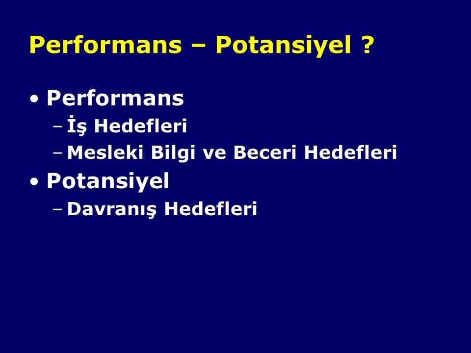 Performans – Potansiyel .