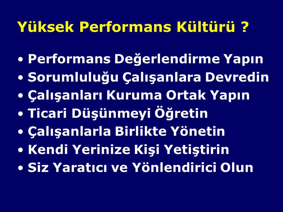 Yüksek Performans Kültürü .