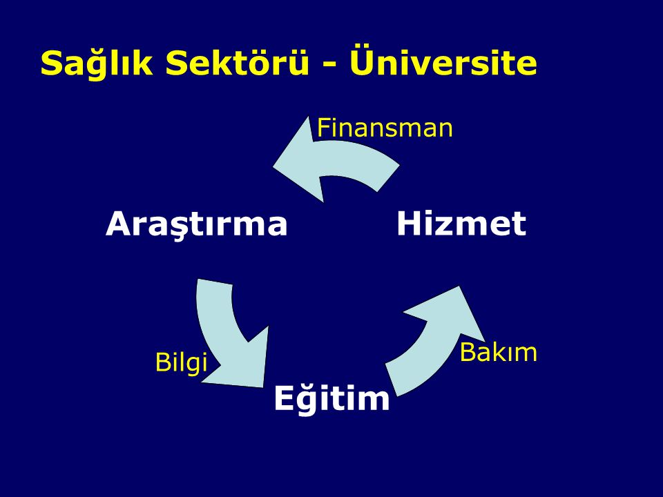 Sağlık Sektörü - Üniversite Bakım Bilgi Finansman