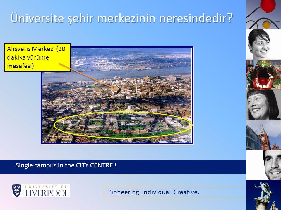 Pioneering. Individual. Creative. Üniversite şehir merkezinin neresindedir .