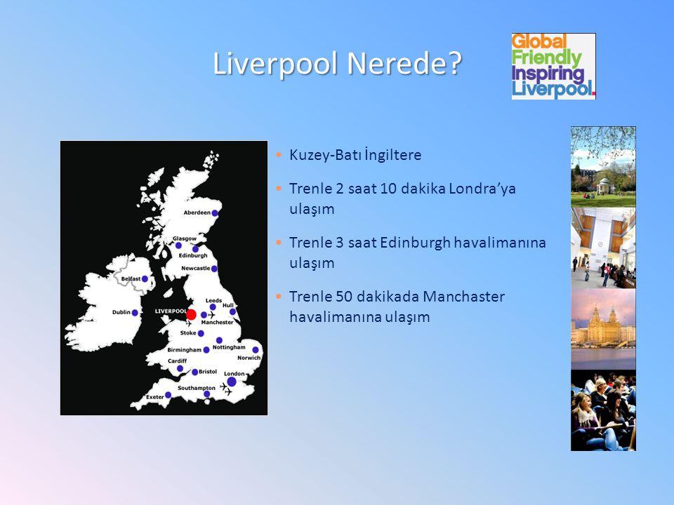 Kuzey-Batı İngiltere Trenle 2 saat 10 dakika Londra'ya ulaşım Trenle 3 saat Edinburgh havalimanına ulaşım Trenle 50 dakikada Manchaster havalimanına ulaşım Liverpool Nerede