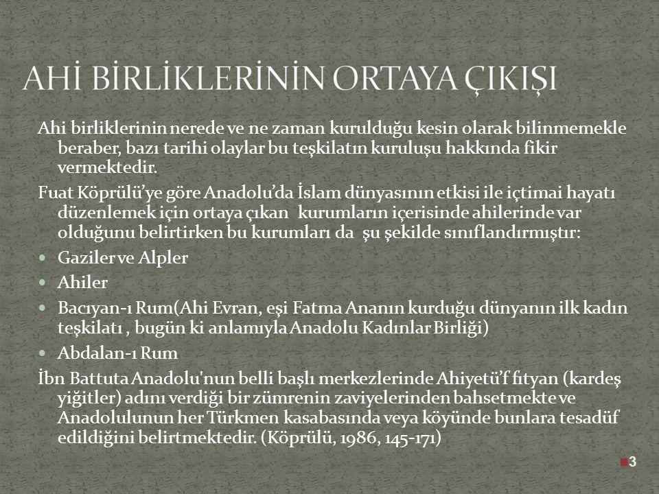 """Ahi"""" kelimesi, Arapça """"Kardeş"""" manasına gelmektedir. Ancak, Divanı Lügati't-Türk'te """"Ahi"""" kelimesinin eli açık, cömert manasında """"akı""""dan geldiği kayd"""