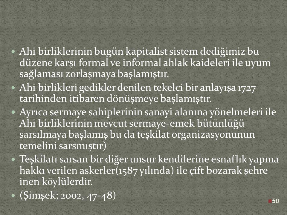 49 XVI.y.y. Osmanlısının dünya ekonomisi içerisindeki durumu zengin bir hammadde alıcısı olan Avrupa ile ucuz hammadde satıcısı olan şark arasında boc