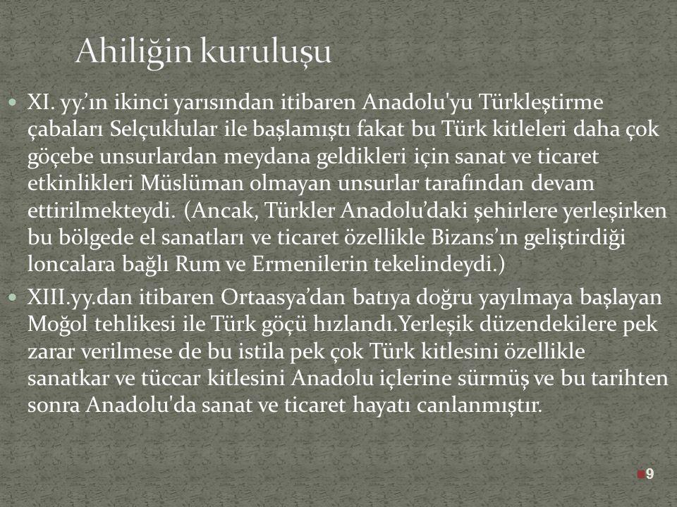 Ahiliğin bütün Anadolu'ya yayılmasına hizmet eden Sultan Alauddin Keykubad'ın 1237 yılında oğlu II. Giyasuddin Keyhüsrev tarafından öldürülmesi üzerin