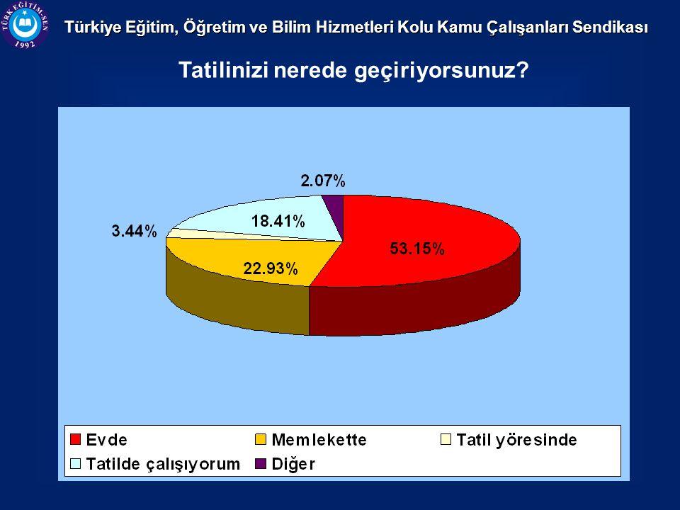 Türkiye Eğitim, Öğretim ve Bilim Hizmetleri Kolu Kamu Çalışanları Sendikası Tatilinizi nerede geçiriyorsunuz?