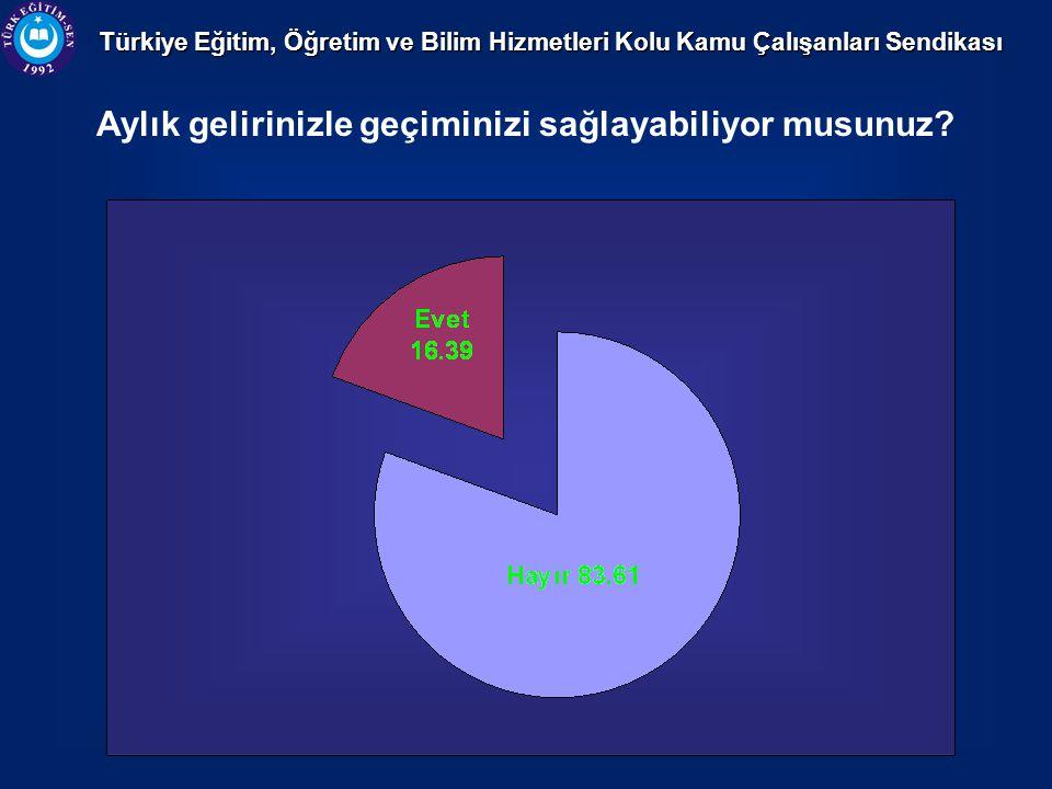 Türkiye Eğitim, Öğretim ve Bilim Hizmetleri Kolu Kamu Çalışanları Sendikası Ek iş yapıyor musunuz?