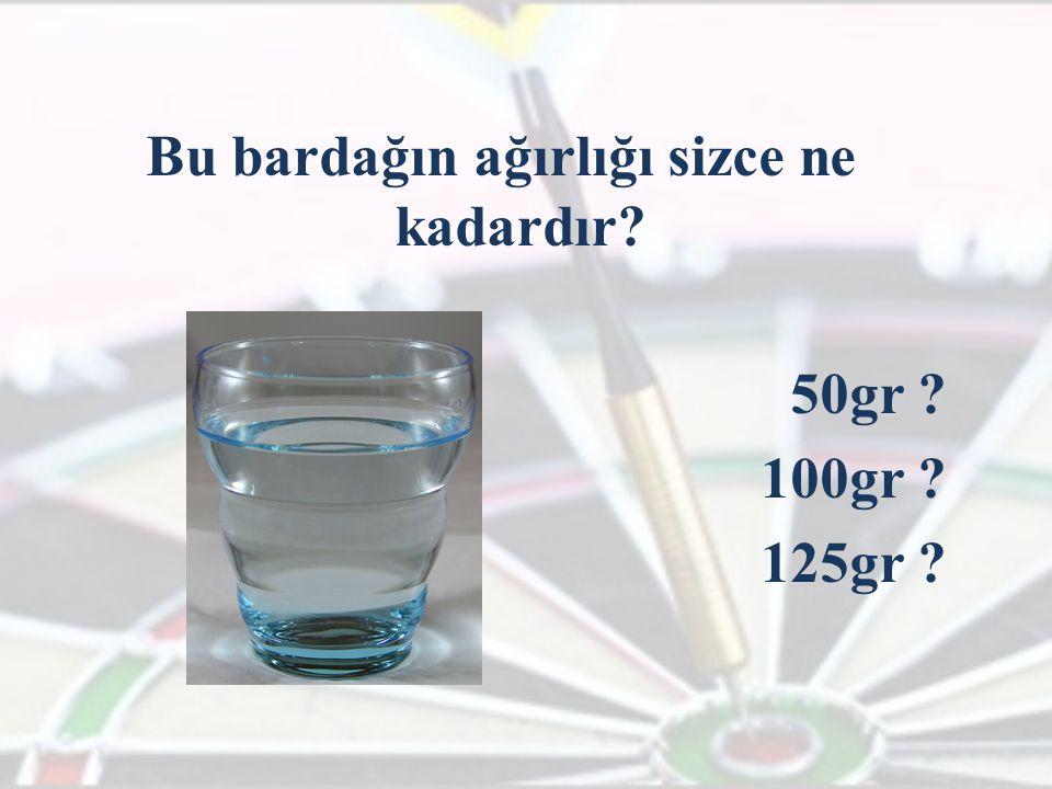 Bu bardağın ağırlığı sizce ne kadardır? 50gr ? 100gr ? 125gr ?