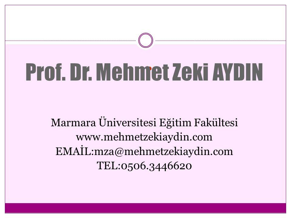 PROF.DR.MEHMET ZEKİ AYDIN ÖZGEÇMİŞİ 1959 yılı, Konya Çumra doğumlu.