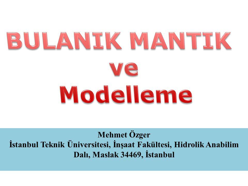 Mehmet Özger İstanbul Teknik Üniversitesi, İnşaat Fakültesi, Hidrolik Anabilim Dalı, Maslak 34469, İstanbul