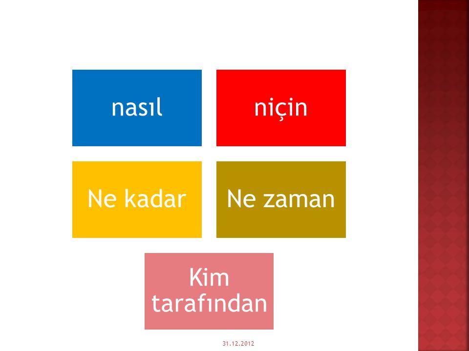  UYARI: Yön isimleri yalın halde zarf tümleci olurlar. Belirtme durum eki (-i) alırsa belirtili nesne,-e/-de/-den, hal ekini alırsa dolaylı tümleç ol