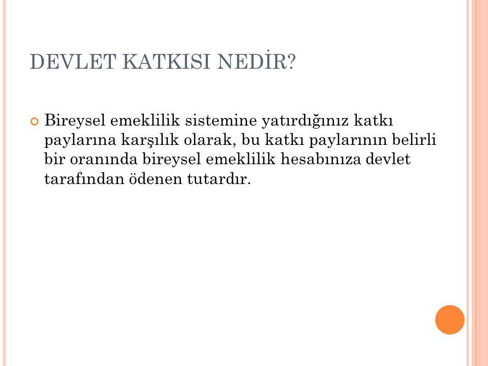 DEVLET KATKISI NEDİR.