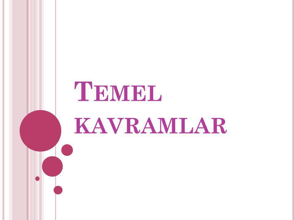 T EMEL KAVRAMLAR