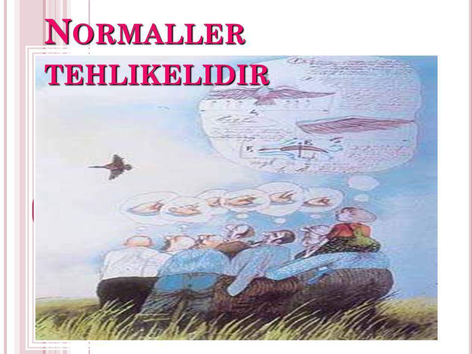 N ORMALLER TEHLIKELIDIR