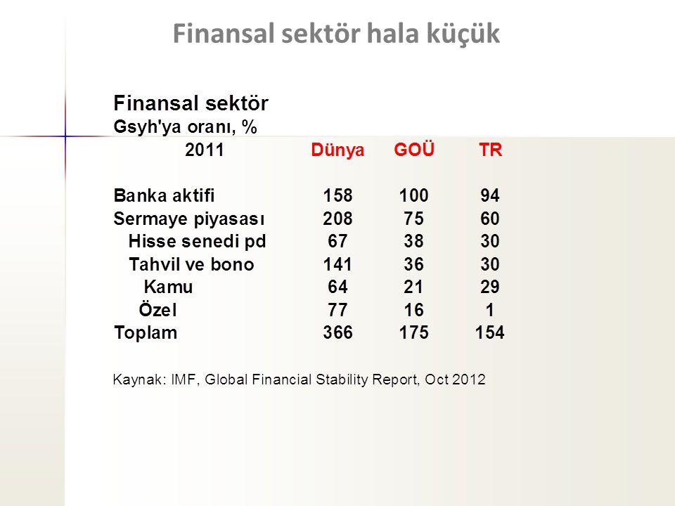 Finansal sektör hala küçük