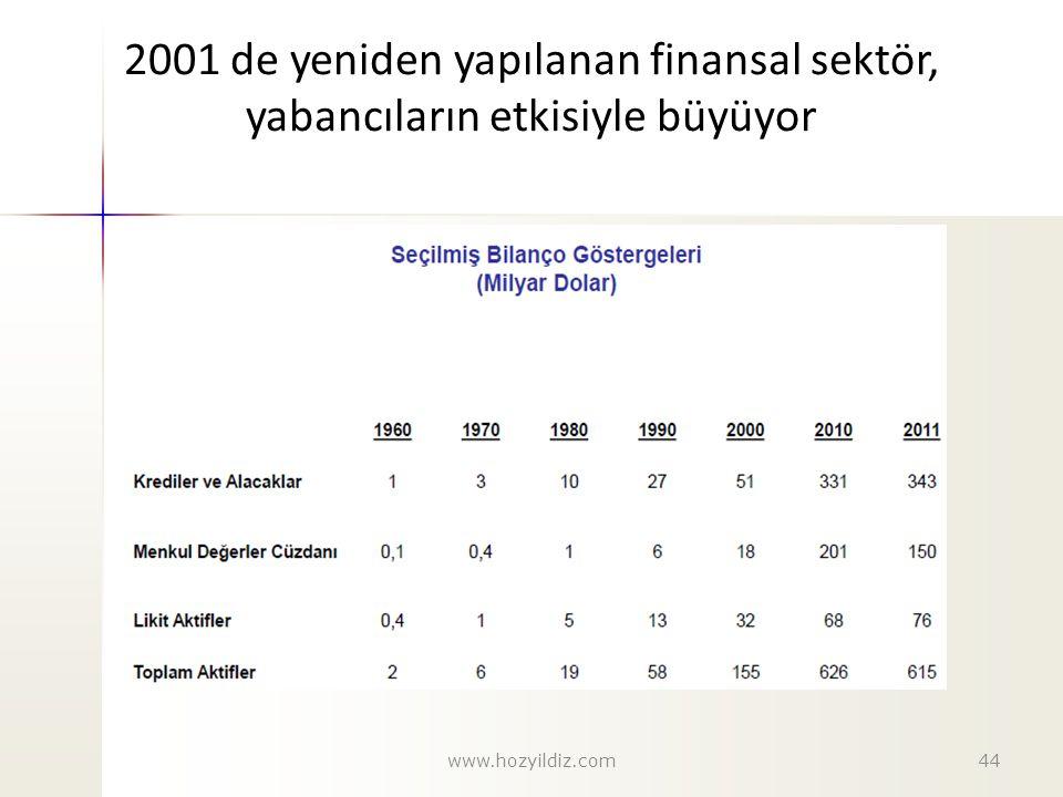 2001 de yeniden yapılanan finansal sektör, yabancıların etkisiyle büyüyor www.hozyildiz.com44