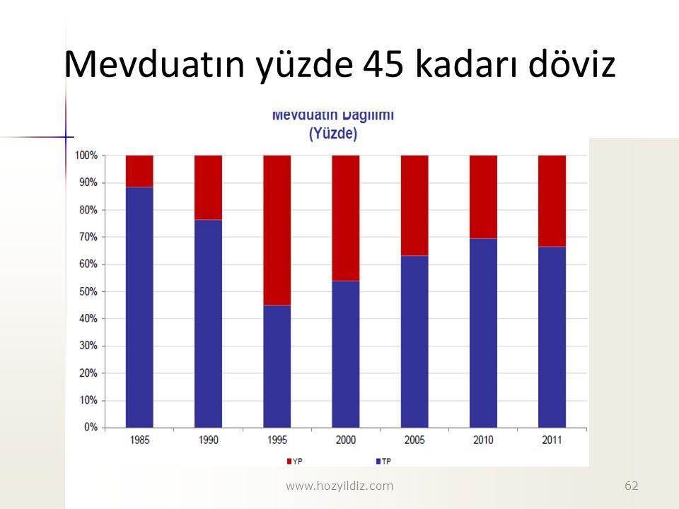 Mevduatın yüzde 45 kadarı döviz www.hozyildiz.com62