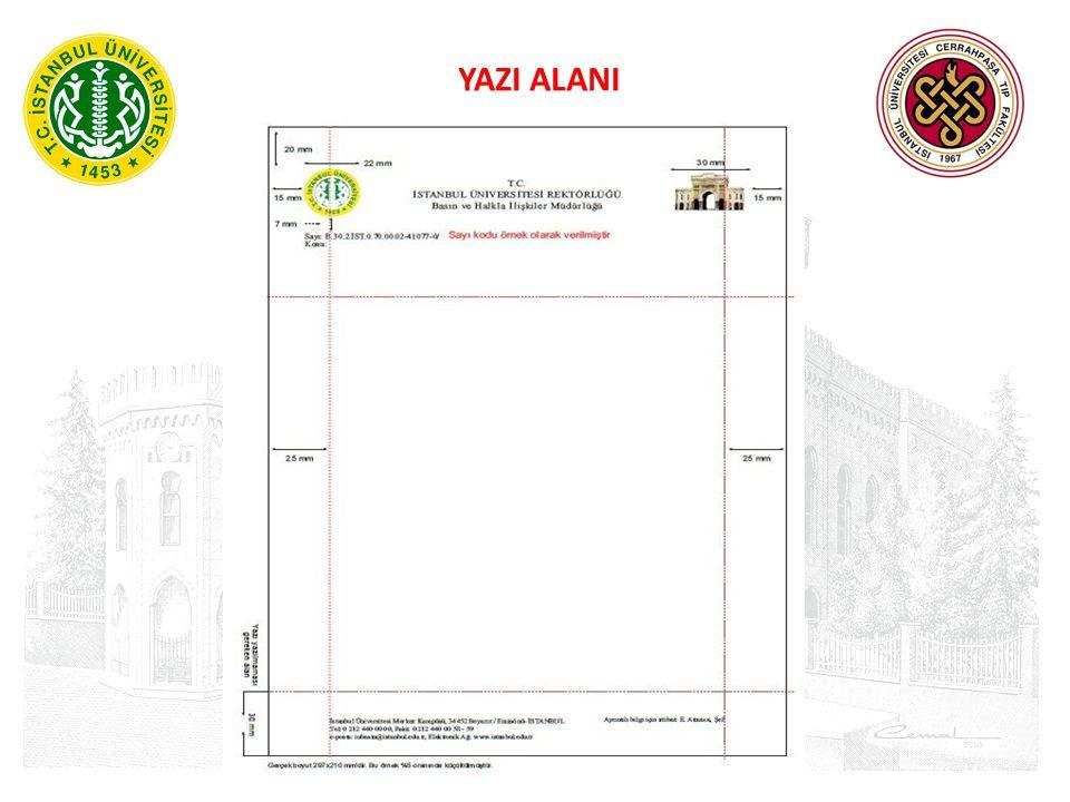 YAZI ALANI