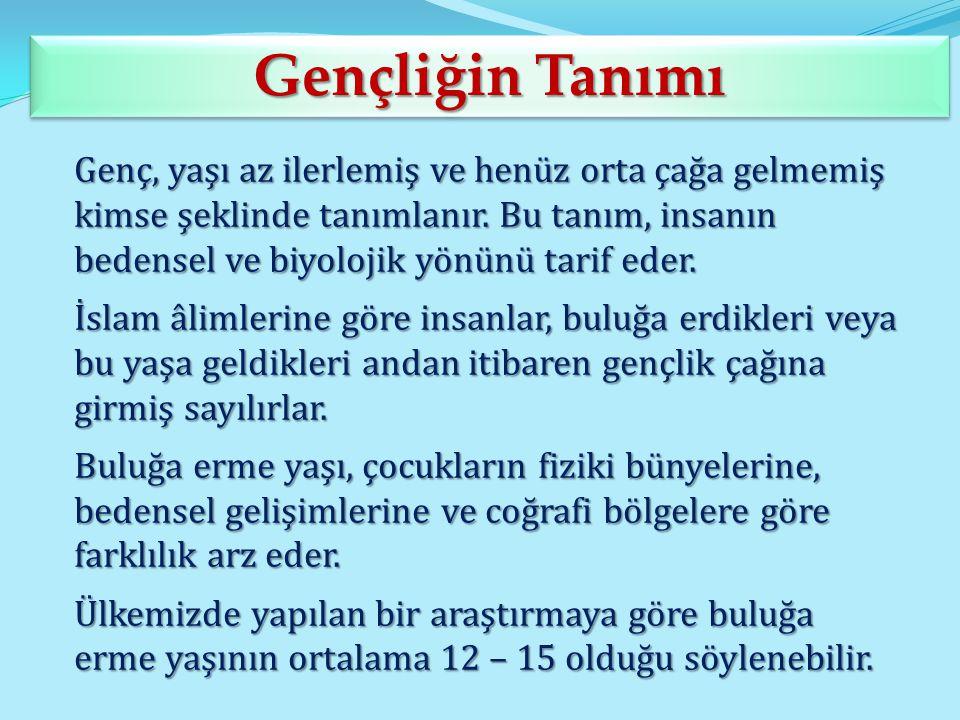 Kur'an-ı Kerim'de Gençliğin Tanımı Kur'an-ı Kerim'de Gençliğin Tanımı Gençlik, Yüce Allah'ın kullarına bahşettiği ömrün en önemli çağlarından biridir.