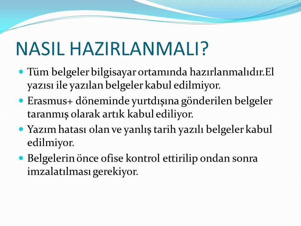 NASIL HAZIRLANMALI.