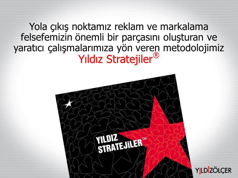 Yıldız Stratejiler ® Yola çıkış noktamız reklam ve markalama felsefemizin önemli bir parçasını oluşturan ve yaratıcı çalışmalarımıza yön veren metodol