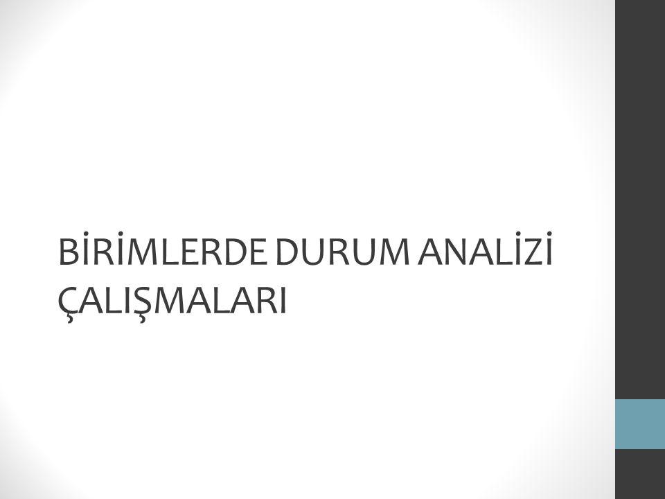 BİRİMLERDE DURUM ANALİZİ ÇALIŞMALARI