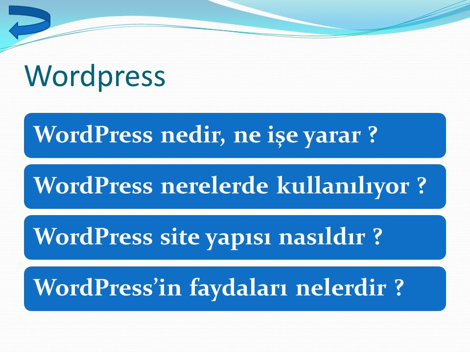 Wordpress WordPress nedir, ne işe yarar ?WordPress nerelerde kullanılıyor ?WordPress site yapısı nasıldır ?WordPress'in faydaları nelerdir ?