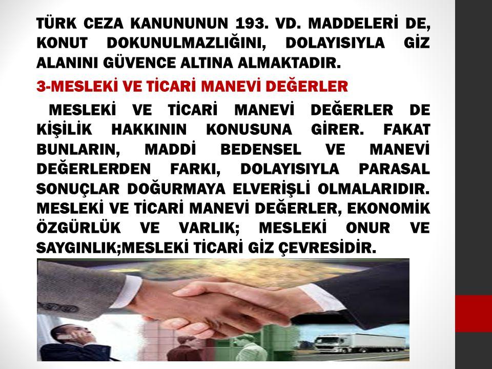 TÜRK CEZA KANUNUNUN 193.VD.
