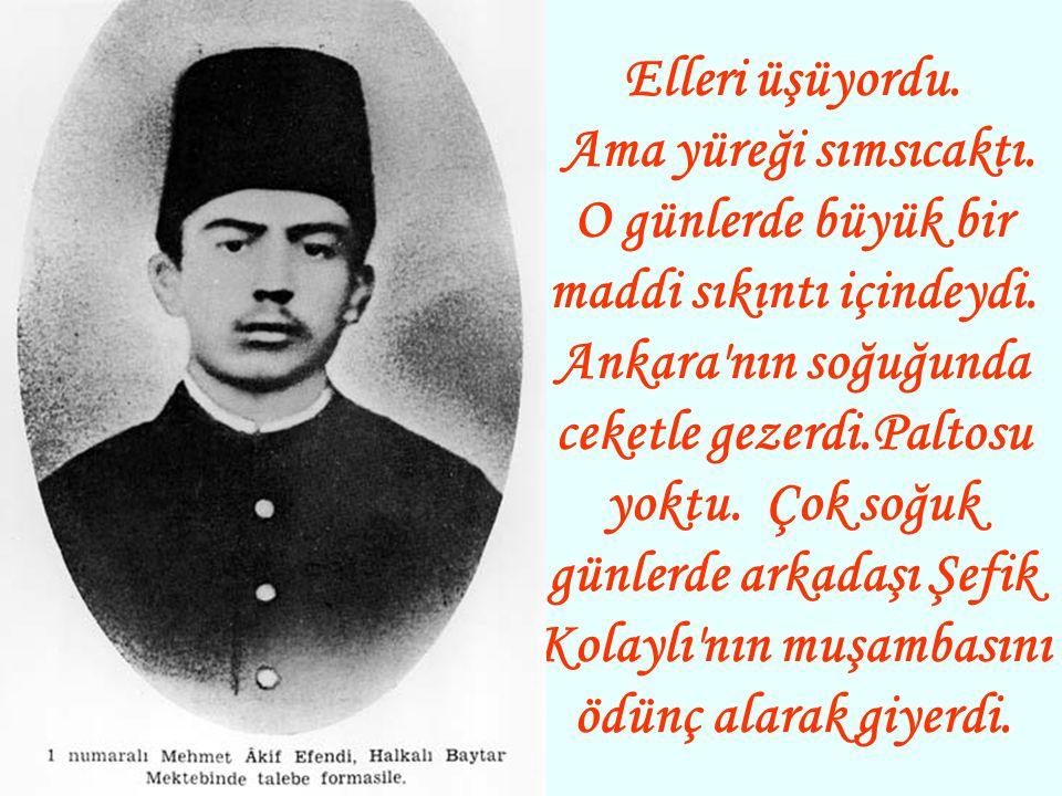 Söz İstiklâl Marşı na intikal etmiş ve misafirlerden biri: - Acaba,yeniden yazılsa daha iyi olmaz mı? demişti: Bitap bir halde yatan Mehmed Âkif, birdenbire başını kaldırdı ve kesin bir cevap verdi: