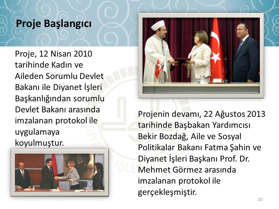 Proje, 12 Nisan 2010 tarihinde Kadın ve Aileden Sorumlu Devlet Bakanı ile Diyanet İşleri Başkanlığından sorumlu Devlet Bakanı arasında imzalanan proto