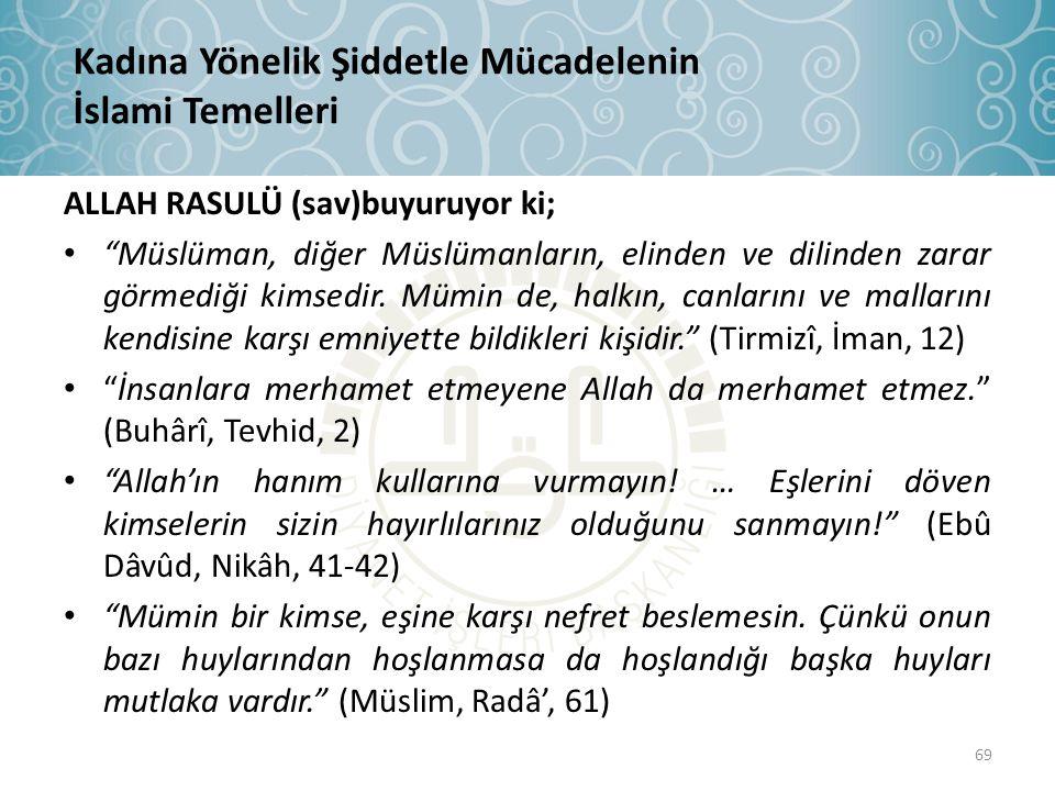 """ALLAH RASULÜ (sav)buyuruyor ki; • """"Müslüman, diğer Müslümanların, elinden ve dilinden zarar görmediği kimsedir. Mümin de, halkın, canlarını ve malları"""