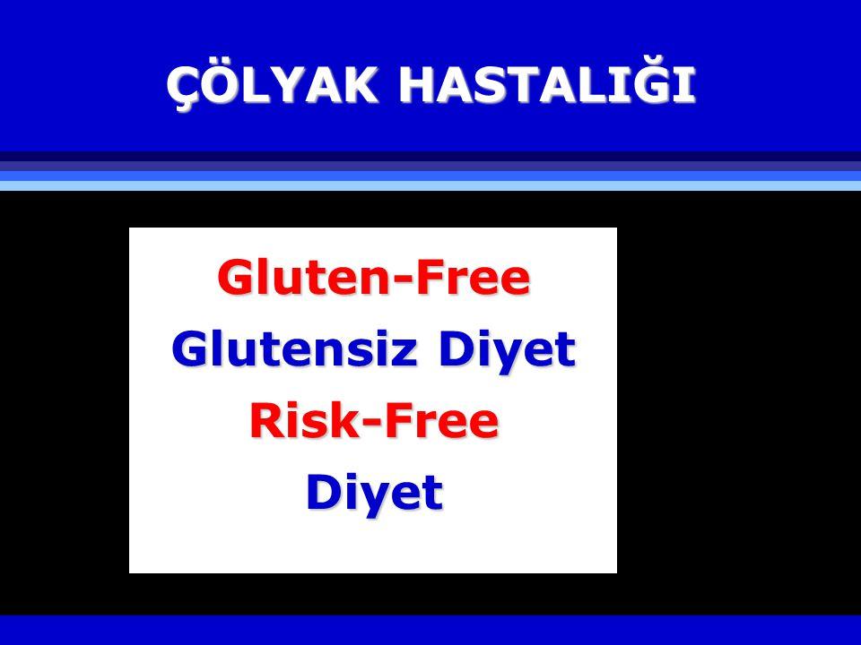 ÇÖLYAK HASTALIĞI Gluten-Free Glutensiz Diyet Risk-FreeDiyet