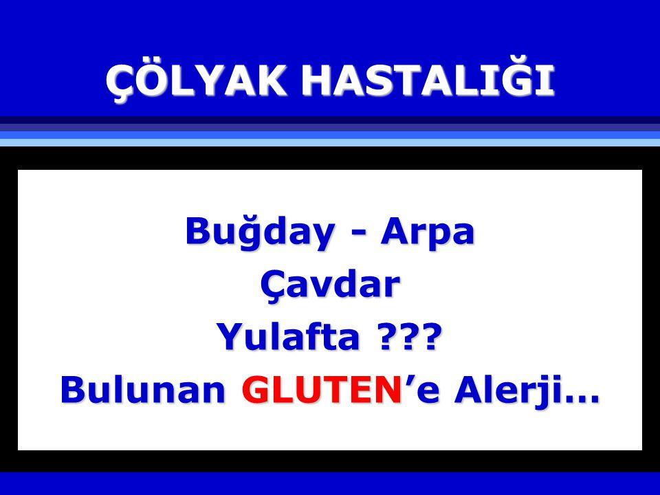 Çölyak Hastalığının İsimleri l Celiac Sprue l Celiac Disease l Celiacs l Gee-Herter's Syndrome l Gluten Intolerance l Gluten Sensitive Enteropathy
