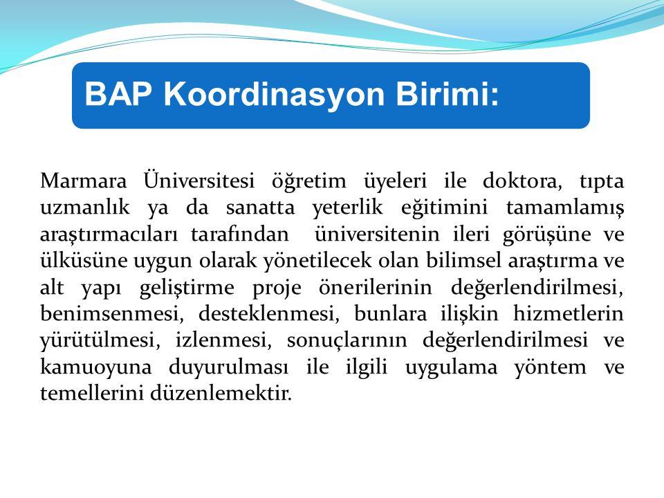 Marmara Üniversitesi öğretim üyeleri ile doktora, tıpta uzmanlık ya da sanatta yeterlik eğitimini tamamlamış araştırmacıları tarafından üniversitenin