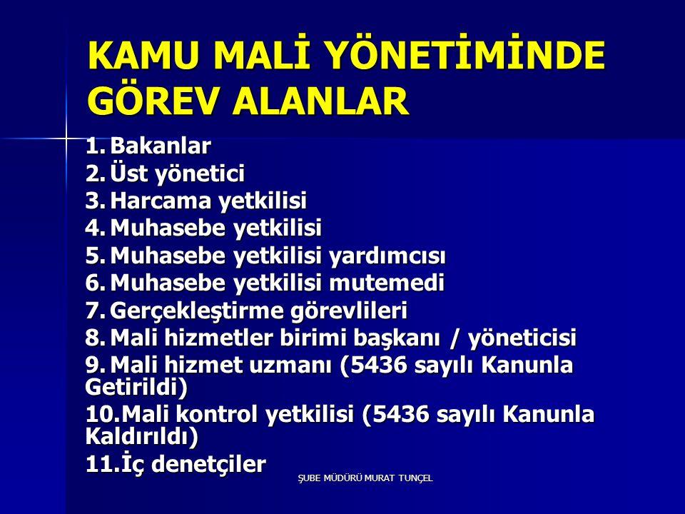 ŞUBE MÜDÜRÜ MURAT TUNÇEL Kanunun 68.maddesine göre; Sayıştay tarafından yapılacak harcama sonrası dış denetimin amacı, genel yönetim (mahalli idareler dahil) kapsamındaki kamu idarelerinin hesap verme sorumluluğu çerçevesinde, yönetimin malî faaliyet, karar ve işlemlerinin; kanunlara, kurumsal amaç, hedef ve planlara uygunluk yönünden incelenmesi ve sonuçlarının Türkiye Büyük Millet Meclisine raporlanmasıdır.