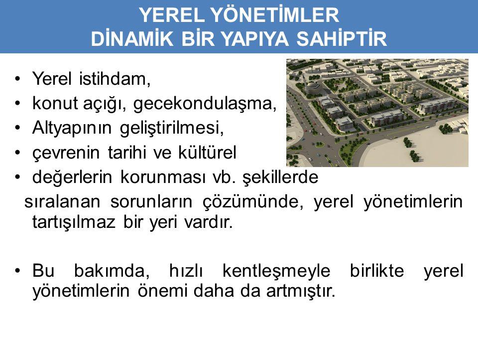 •Yerel istihdam, •konut açığı, gecekondulaşma, •Altyapının geliştirilmesi, •çevrenin tarihi ve kültürel •değerlerin korunması vb.