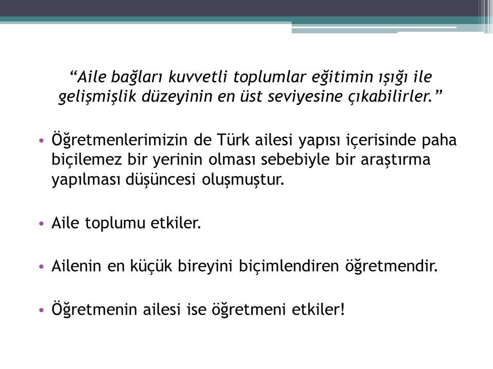 """""""Aile bağları kuvvetli toplumlar eğitimin ışığı ile gelişmişlik düzeyinin en üst seviyesine çıkabilirler."""" • Öğretmenlerimizin de Türk ailesi yapısı i"""