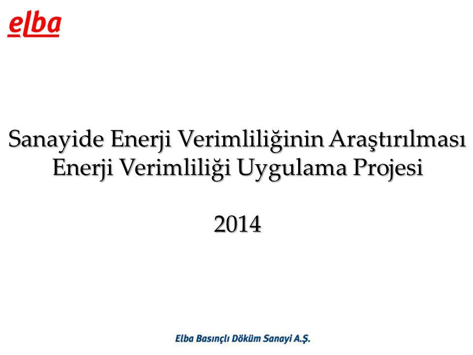 Sanayide Enerji Verimliliğinin Araştırılması Enerji Verimliliği Uygulama Projesi 2014