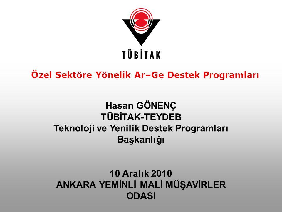 62 Başvuru Yapan İller TÜBİTAK-TEYDEB Destek Programları Kapsamında Proje Başvuruları 62 2003 yılı sonu itibariyle, Aksaray, Nevşehir ve Niğde illerinden proje başvurusu bulunmamaktadır.