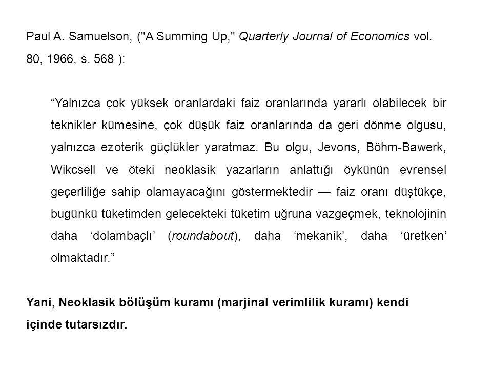 Paul A. Samuelson, (