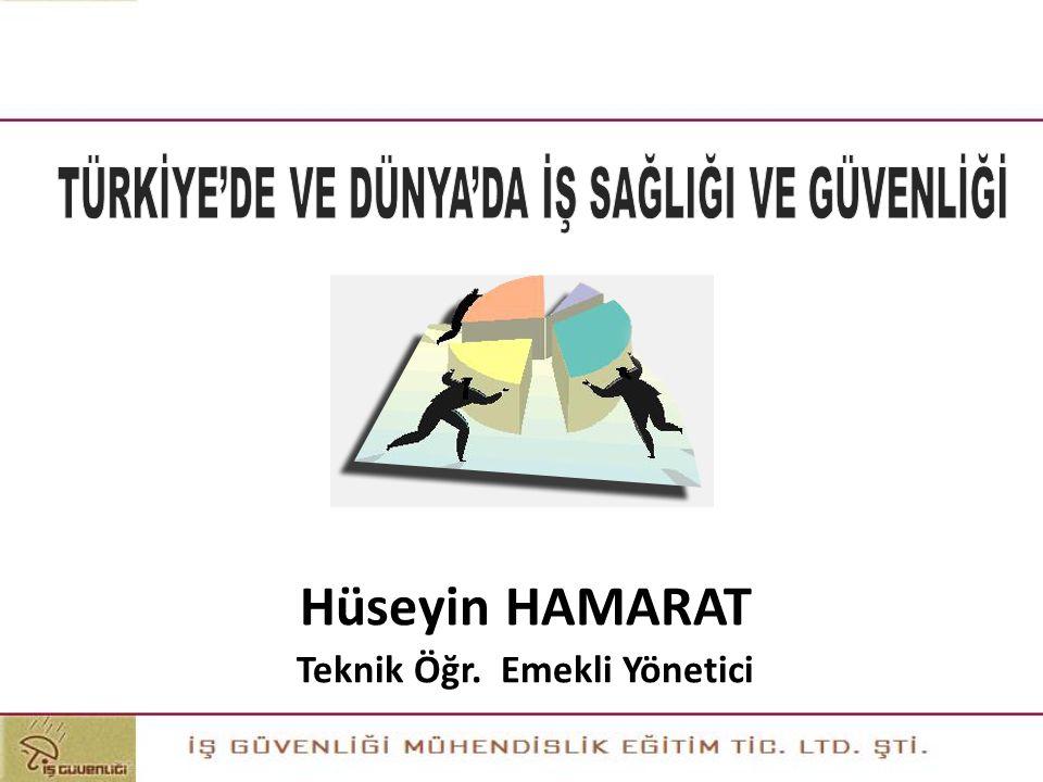Eğitimin Amacı Katılımcılara, istatistikî veriler ve karşılaştırmalarla dünyada ve Türkiye'deki iş sağlığı ve güvenliği durumu hakkında temel bilgiler kazandırmaktır.