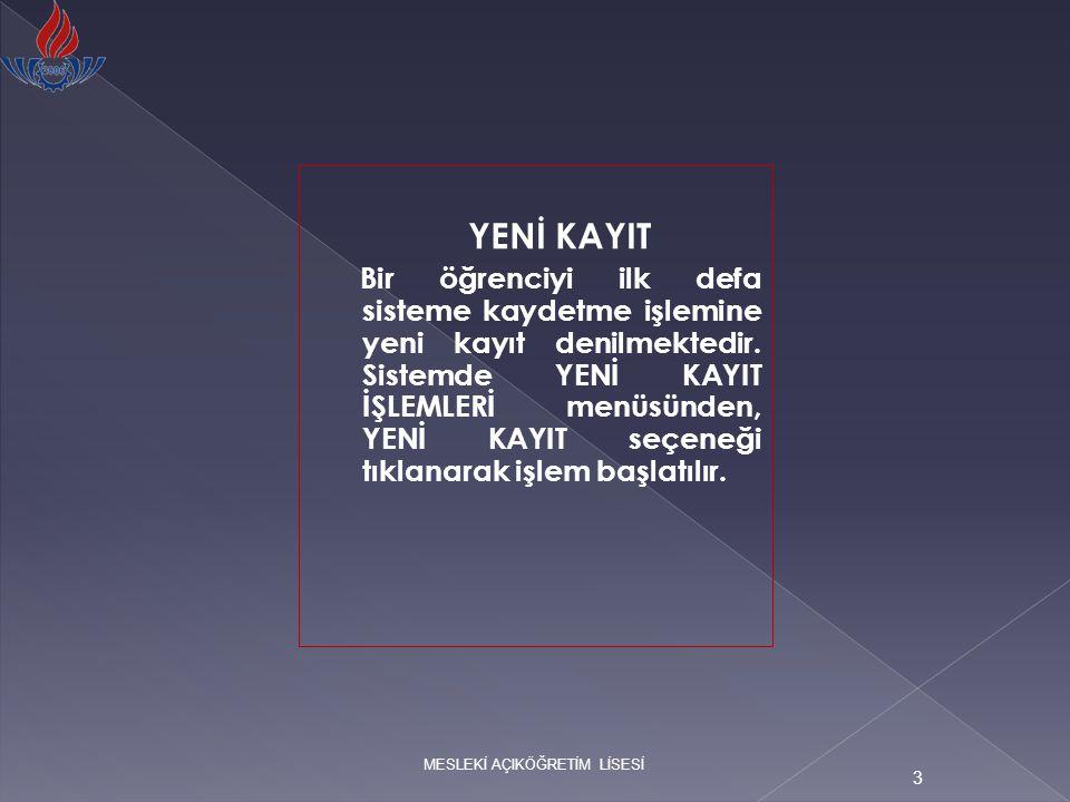 4 İlk aşamada TC kimlik numarası girilir; sonra öğrenci tipi belirlenir.TC Kimlik numarası bulunmayan (Türk vatandaşı olmayıp ülkemizde yaşayan yabancı uyruklu kişiler) öğrenci kayıtları için işaretlenmesi gerekmektedir.