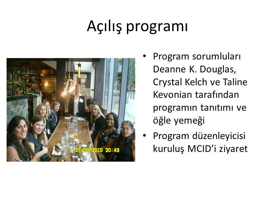 Açılış programı • Program sorumluları Deanne K.