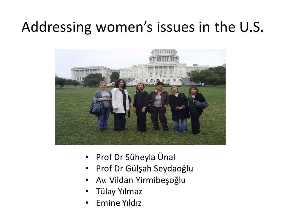 ABD State Dept, Avrupa-Avrasya Bürosu • Küresel Kadın haklarını geliştirme konusunda ABD politikaları • İstanbul'da KAGİDER ile ortak yapılacak kadın girişimciliği toplantısı • Türkiye'de kadının durumu, geleceği ve değişen yasalar