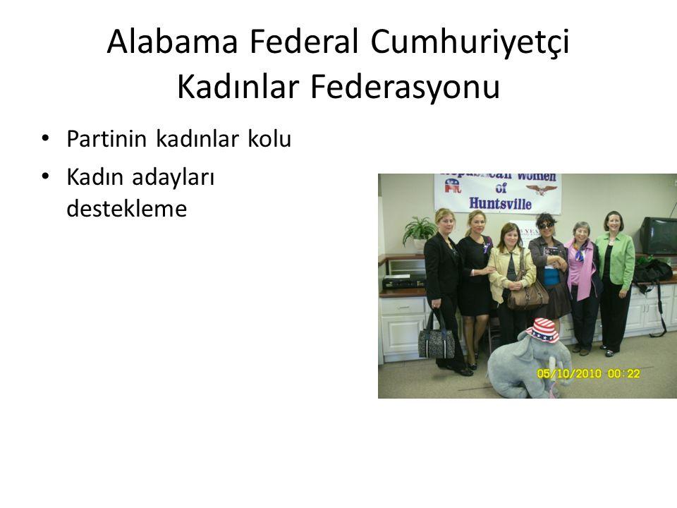 Alabama Federal Cumhuriyetçi Kadınlar Federasyonu • Partinin kadınlar kolu • Kadın adayları destekleme