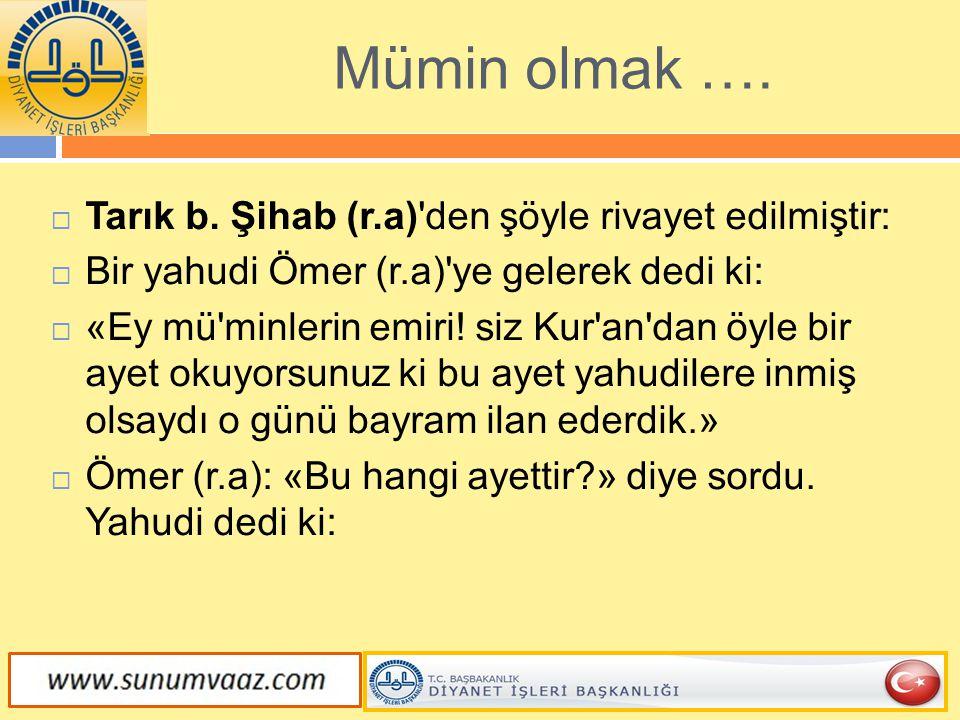 Kur ân-ı Kerim, kurban müessesesinin Hz.