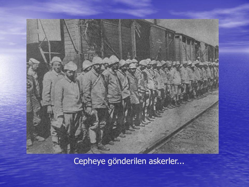 Cepheye gönderilen askerler...
